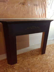 """Newer Wood Fireplace Mantel 62"""" w x 49"""" h x 14"""" d  For gas FP"""