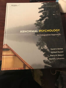 Abnormal Psychology: An integrative Approach Fourth Edition