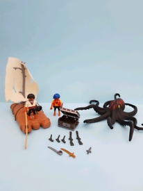 Playmobil raft with octopus and diver