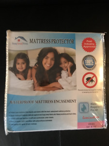 Waterproof mattress encasement - Full/double BNIB