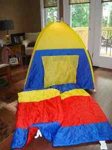IKEA Kid's Play Tent with matching Sleeping Bags
