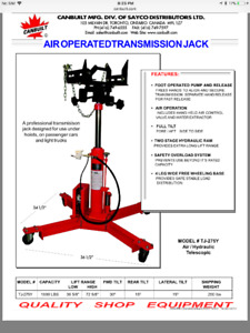 """Transmission Jack Air/Hydraulic by Canbuilt """"Reduced Price"""""""