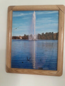 "8x10""Peterborough Little Lake fountain Photo in Wood/glass frame Peterborough Peterborough Area image 2"