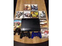 Playstation 3 Super Slimline 500Gb Bundle 9 Games 2 Dualshock Pads Excellent Condition