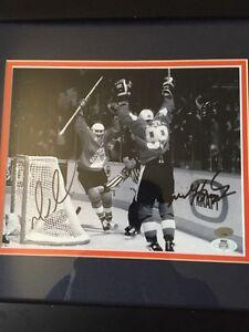 Autographed Wayne Gretzky and Mario Lemieux Canada Cup Pic Belleville Belleville Area image 1
