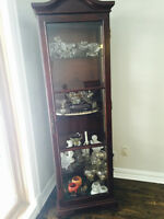 Wood and glass dining room storage