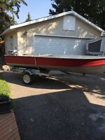 2012 trailer, 9.9 motor, 14 foot boat
