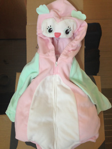 New condition owl costume 12 month, non smoking home