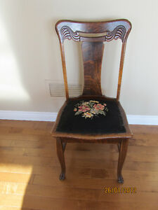 antique chairs with needle point seat covers