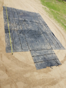 2 set of 1 pc tarps for super b in  good condition.