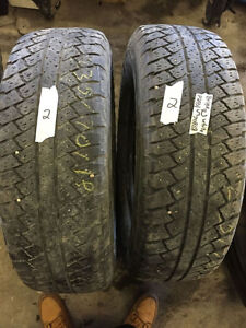 2 Bridgestone Dueler A/T - 255/70/18 - 60% - $40 For Both