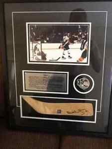 "REDUCED PRICE - ""The Goal"" Bobby Orr Signed Print"