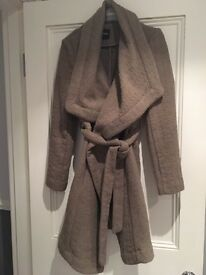Oasis Camel Belted Wool Swing Coat size Small BNWT