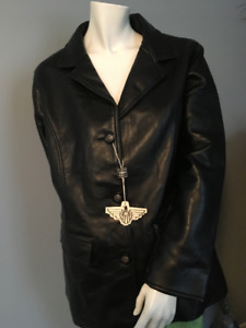 Reportage Ladies Size Large Jacket New Unworn with Tags LEATHER