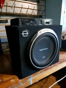 Rockford fosgate P1000-1bd amp and sub 200$ good condition