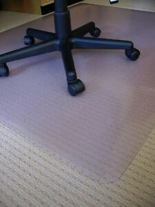 2 Colorless Plastic Chair Mats for smooth floor