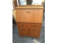 Bureau office writing desk storage cupboard with drawer. Can deliver.