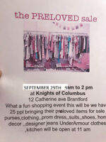 Pre-Loved Fall Edition clothing event