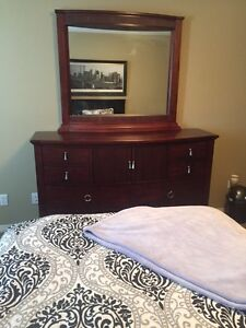 $100 OFF if picked up today - solid wood dresser and nightstand