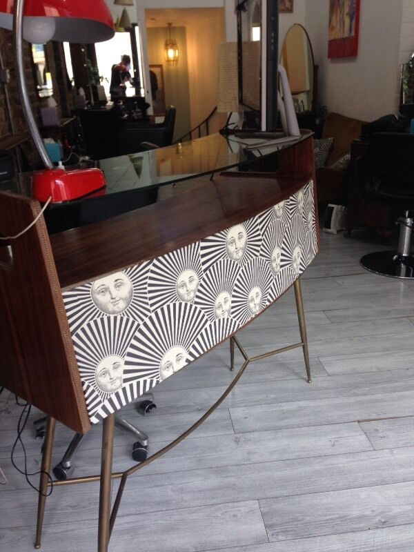 50s Italian fornasetti cabinet tablein Brick Lane, LondonGumtree - Beautiful cabinet table Original from 50s very unique furniture the front of the the desk have fornasetti , is in a great condition , Also the furniture coming with the original stool( the stool need to be repair the round base ) This will not ship...