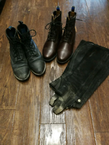 Ariat paddock boots and half chaps