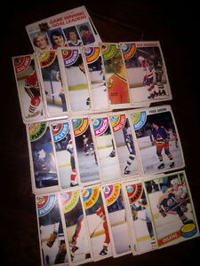 147 Hockey Cards from the late 70s to early 80s
