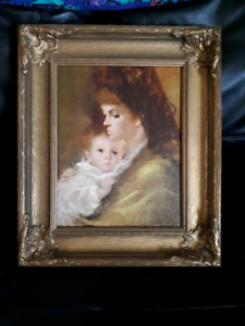 Antique print of oil painting