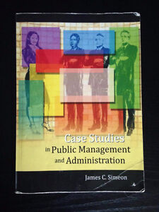 Case Studies in Public Management and Administration