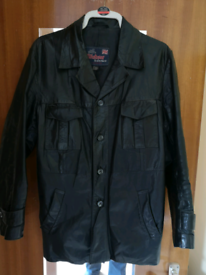 Vintage black English leather jacket - high quality