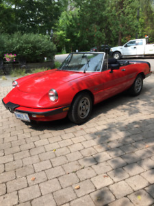 1987 Alfa Romeo Spider - 95,000 km Excellent Condition