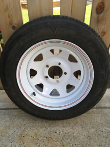 Camper Cargo trailer tire with rim size P185/65 R14 85S 5 bolt