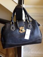 Brand new black leather Steve Madden hand bag