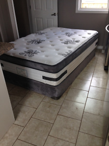 Very comfy pillow top double-bed - good condition