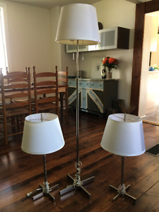 Floor Lamp with matching table lamps