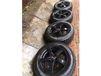 "As New Vauxhall Vivaro 16"" alloy wheels + as new winter tyres 5x114 Nissan Quashqai Juke"