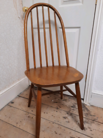 Solid oak ERCOL chair Windsor priory