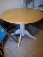 "table ronde en bois 36"" diamètre"