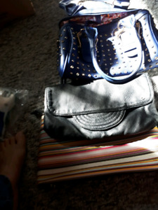 Purses/$5 each. / blue gone/black is leather