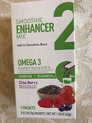 Smoothie Base Mix (Smoothie Enhancer Mix Base Powder Chia Berry Flavor 0.3 Oz 5 Packets Sodium Free)