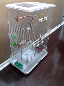Double high vision bird cage