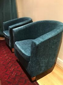 Two Dunelm tub chairs