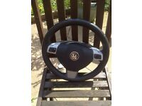 Astra h Sri 2007 leather steering wheel with air bag vgc 07594145438