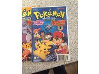 Pokemon comics - signed
