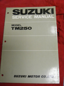 Suzuki TM 250 Service Manual