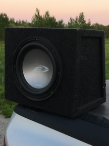 Alpine Subwoofer and Amp Combo