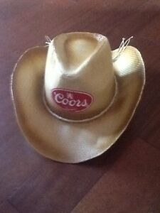 "Cowboy straw hat ""Coors"" Large Volume***REDUCED***"