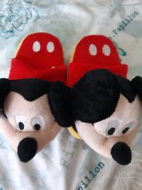 Genuine kids Mickey Mouse Stompeez. Size S (kids shoe size 9-13)