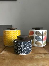 Orla kiely ceramic storage jars