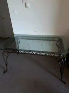 Beveled Glass Table