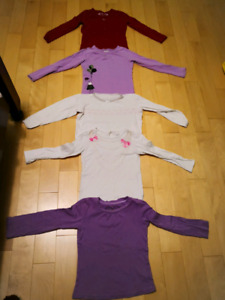 Girl's shirts, sweater and pants for 5 to 6,shoes